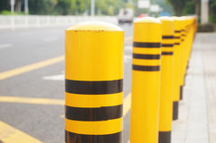 Traffic guardrail. Traffic fence feature in the highway waiting pavilion royalty free stock image