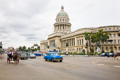 Traffic in Havana, Cuba Stock Photos