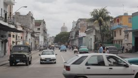 Traffic in Havana stock footage
