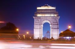 Traffic Haze at india gate Royalty Free Stock Image