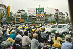 Traffic hell Saigon, Vietnam Stock Photos