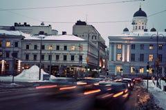 Traffic in Helsinki Royalty Free Stock Photos