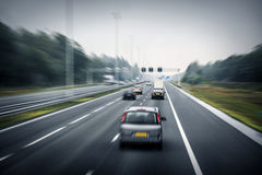 Traffic on the high way Royalty Free Stock Photo