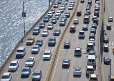Traffic on the highway. A shot of traffic in new york city at its highest Royalty Free Stock Photography