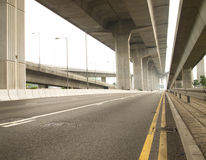 Traffic Highway. To container pier Royalty Free Stock Photography