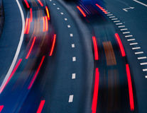 Traffic on highway Stock Photography