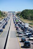 Traffic on highway. Traffic on a highway. Urban life Royalty Free Stock Photo
