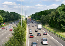 Traffic on the highway. In belgium stock photography