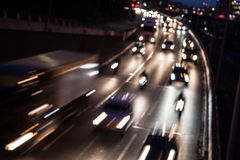 Traffic on a highway Royalty Free Stock Image
