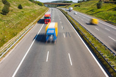 Traffic on a highway Royalty Free Stock Photo