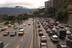 Traffic in the Highway stock video footage