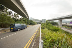 Traffic Highway. In Hong Kong Lantau Island Stock Photo