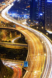Traffic highway in Hong Kong at night Royalty Free Stock Images