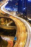 Traffic highway in Hong Kong at night Royalty Free Stock Images