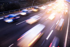Traffic on highway Royalty Free Stock Image