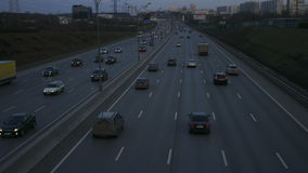 The Traffic on the Highway in the Metropolis stock video footage