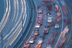 Traffic on highway Royalty Free Stock Images