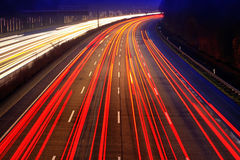 Traffic on highway. Night time traffic on highway Royalty Free Stock Image