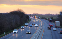 Traffic on a highway stock image