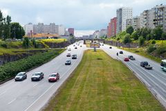 Traffic in Highway royalty free stock photography