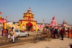 Traffic at the hindu festival Royalty Free Stock Photos