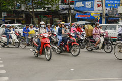 Traffic in Ho Chi Min City, Vietnam Royalty Free Stock Images