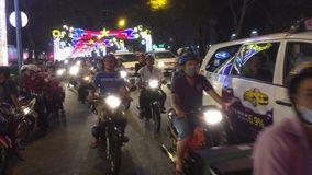 Traffic in Ho Chi Minh city stock footage