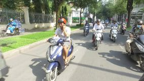 Traffic in Ho Chi Minh city stock video footage
