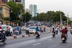 Traffic in Ho Chi Minh City, Vietnam Royalty Free Stock Photography