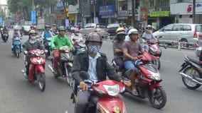 Traffic in Ho Chi Minh city, Vietnam stock video footage