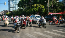Traffic in ho chi minh city,vietnam Royalty Free Stock Images