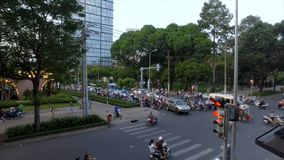 Traffic in Ho Chi Minh, Vietnam in the evening stock video