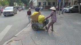 Traffic in Ho Chi Minh, Vietnam stock video
