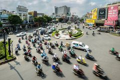 Traffic in Hochiminh city. HOCHIMINH CITY- VIETNAM: Landscape of city traffic in Hochiminh city, Vietnam Royalty Free Stock Photography