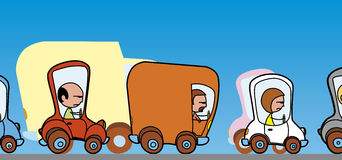 Traffic hold-up. Vector Angry drivers in traffic hold-up Royalty Free Illustration