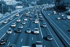 Traffic on the Hollywood 101 Stock Photography