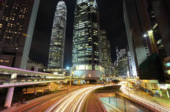 Traffic in Hong kong Royalty Free Stock Photos