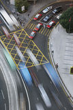 Traffic in Hong Kong (blurred motion) Stock Image