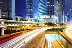 Traffic In Hong Kong city Stock Photography