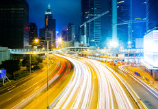 Traffic in Hong Kong city Royalty Free Stock Image
