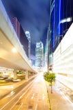 Traffic in Hong Kong at night Stock Photography