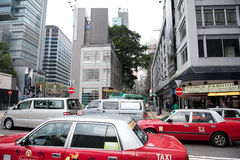Traffic on Hong Kong street Stock Photography