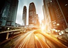 Traffic in Hong Kong Royalty Free Stock Photos