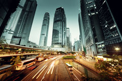 Traffic in Hong Kong royalty free stock photography