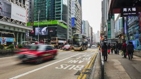 The traffic  in Hong Kong. Time lapse. A view of the traffic in the streets of Hong Kong stock footage
