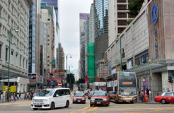 Traffic in Hongkong commercial center Royalty Free Stock Images