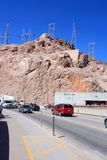 Traffic at Hoover Dam Royalty Free Stock Images