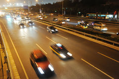Traffic i beijing Royaltyfri Fotografi
