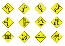 Traffic icon set. Auto automobile beware black business bypath car collection computer curve design Stock Images