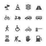 Traffic icon set,  eps10 Royalty Free Stock Photography